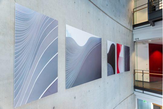 """Installation View """"Tobias Grewe """"Wir müssen die Welt verändern"""" at Haus der Architekten, Düsseldorf (Photo: Linda Inconi)"""